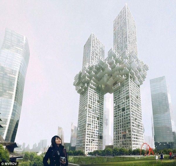 Удивительное здание в Корее