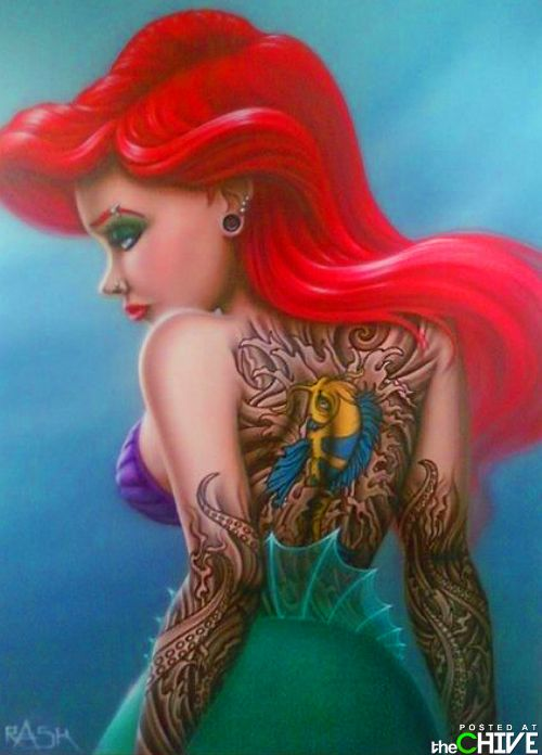 RaskopticonThe Ariel painting I did for our Ink Bombers twisted