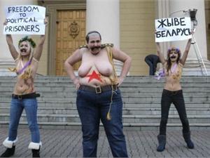 Три активистки Femen нашлись избитыми в Беларуси