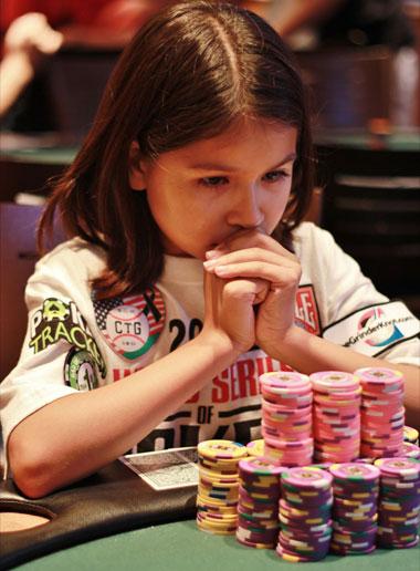 Восьмилетняя покер-про Алекса Фишер
