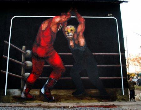 Стрит-арт от JAZ