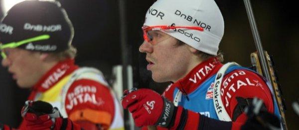 Биатлон. Мужская сборная Норвегии выиграла эстафету