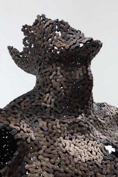 Скульптуры из велоцепей