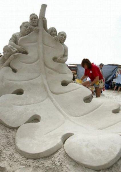 Мокрый песок + фантазия