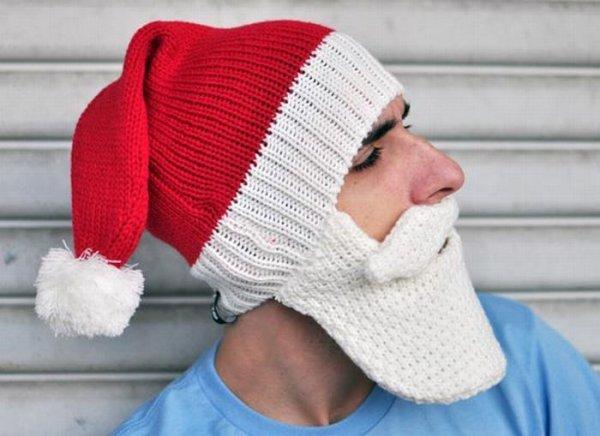 Модные шапки в стиле Санта Клаус