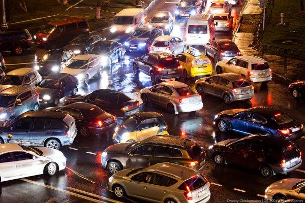 Многокилометровые московские пробки
