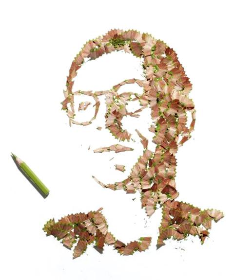 Портреты из отходов