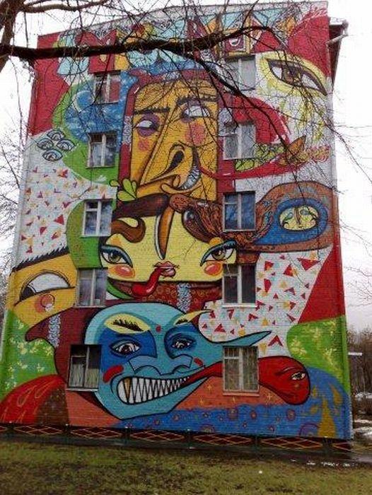 Разрисованные дома