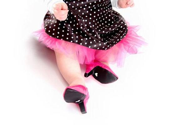 Американская мода: каблуки для новорожденных
