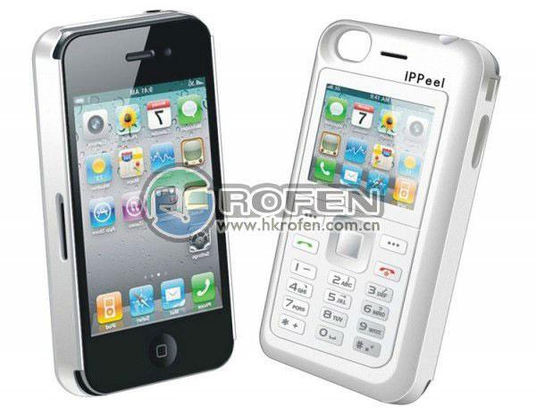 Кейс iPPeel с дополнительным телефоном для iPhone 4