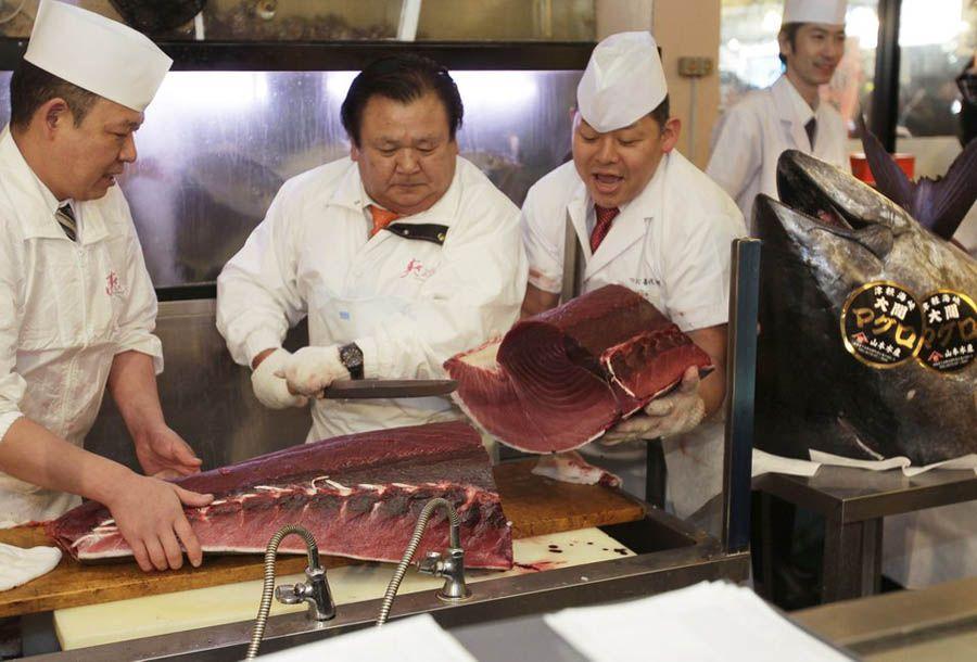 Рекордный японский тунец