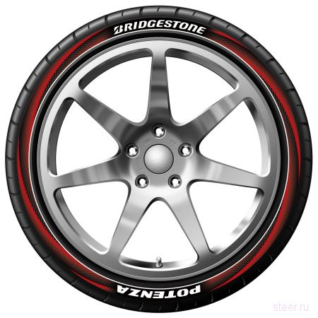Bridgestone придумала разноцветные покрышки