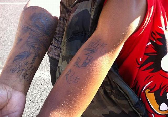 В тюрьму из-за татуировки сына