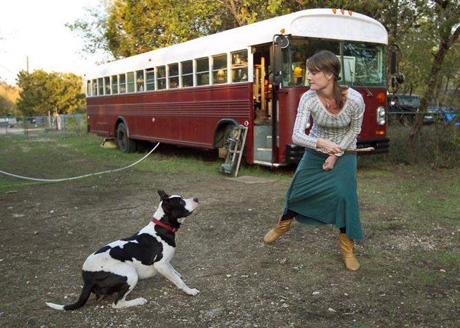 Жизнь в автобусе