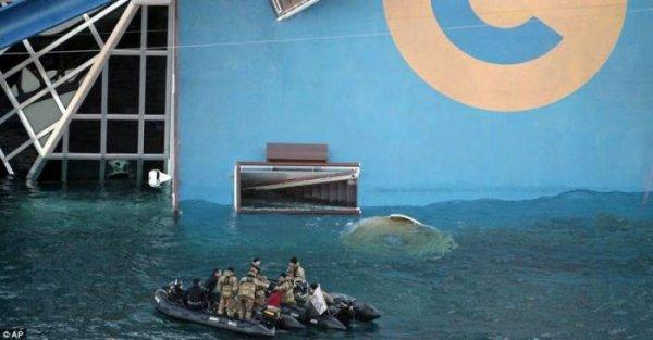 На затонувшей Коста Конкордия