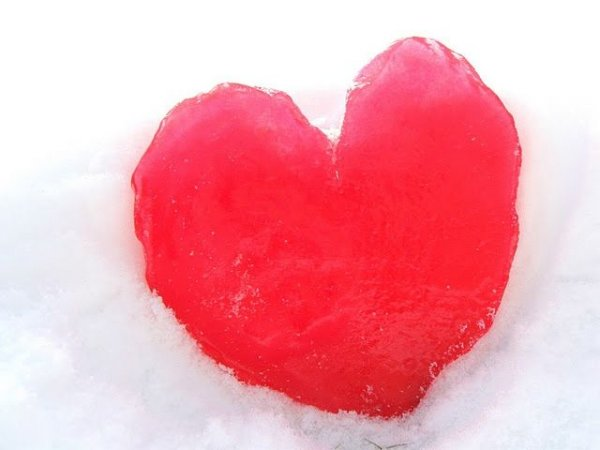 Ледяное сердце своими руками
