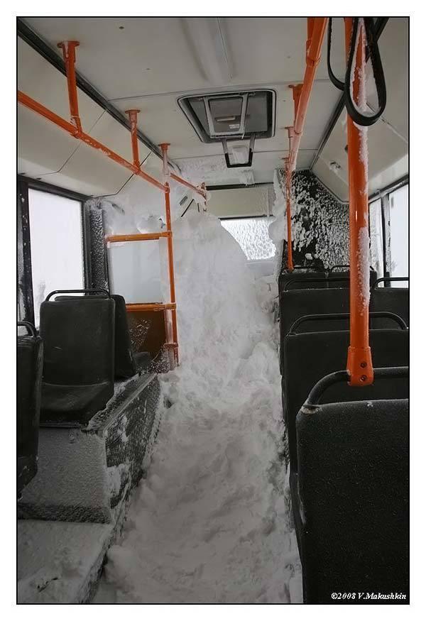 Зимой в Норильске на МАЗе