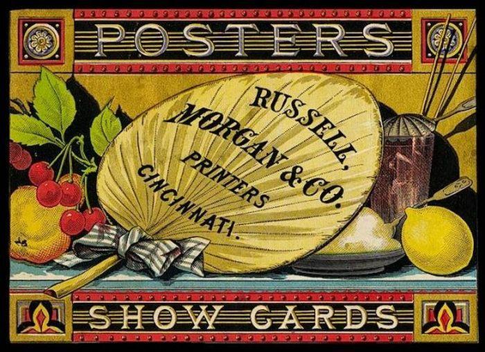 Винтажные визитные карточки