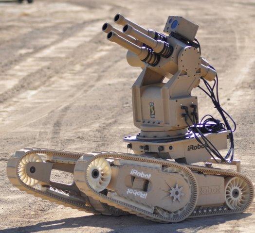Первый боевой iRobot