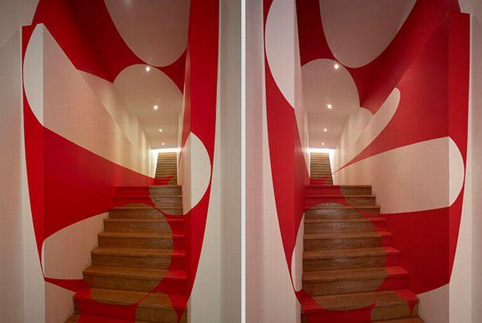 Оптические иллюзии на стенах
