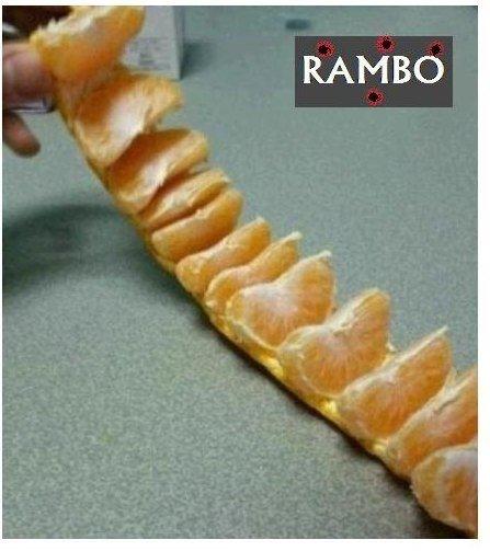 Научите меня чистить мандарины способом Рембо?