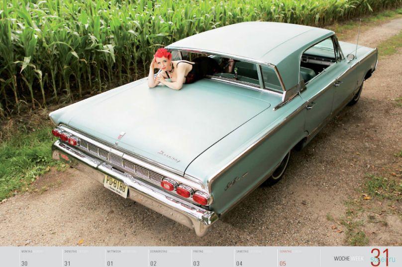 Календарь Girls and legendary US-cars 2012