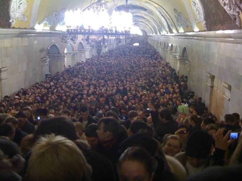 Пробка в московском метро