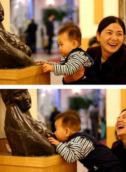 Приколы со статуями