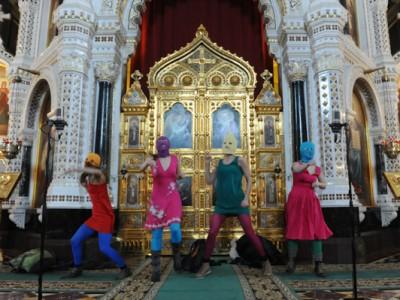 Феминистки в Храме Христа Спасителя