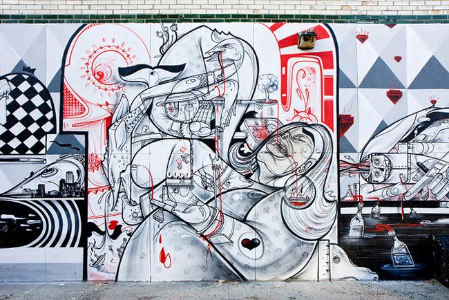Стрит-арт от How & Nosm
