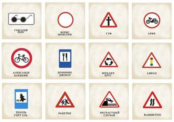 Музыка в дорожных знаках