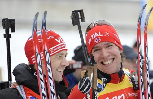 Биатлон - ЧМ - Норвегия выиграла смешанную эстафету