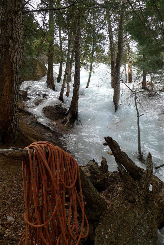 Застыла река