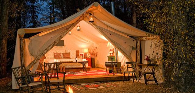 Пожить в палатке