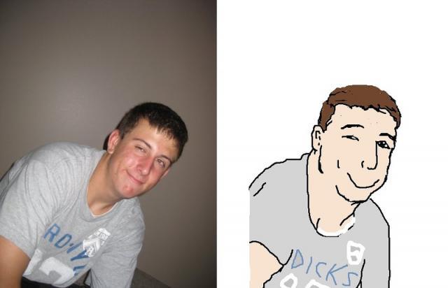 Портреты друзей в Паинте