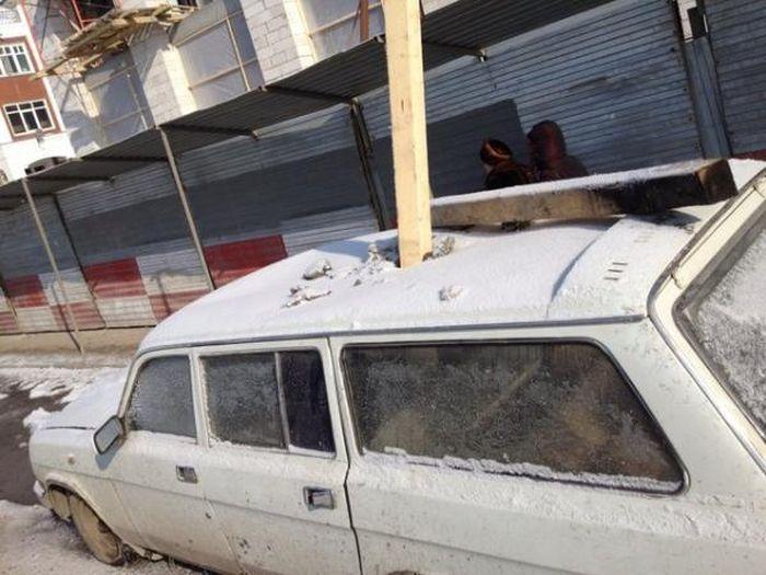 Машину убили как вампира