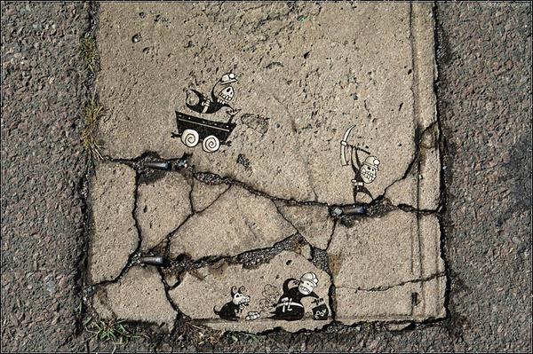 Загадочный стрит-арт