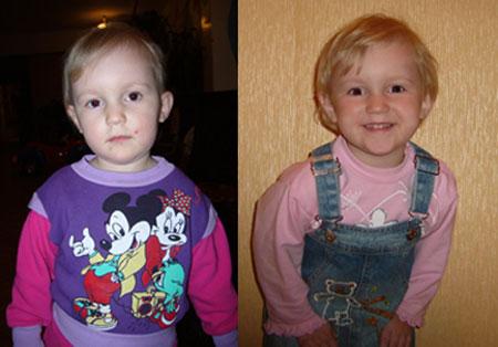 Фотографии детей в детских домах и в их новых семьях