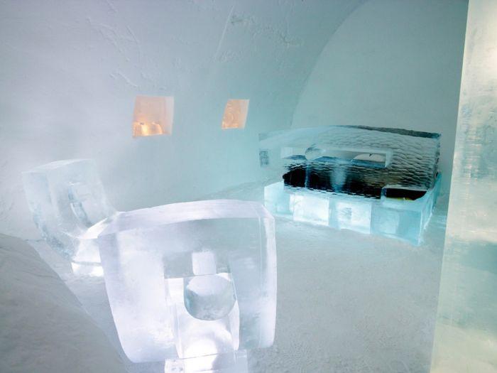Ледяной отель в Швеции