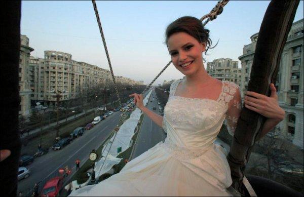 Рекордный шлейф платья невесты