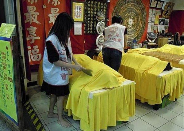 Китайский массаж под лезвием ножа