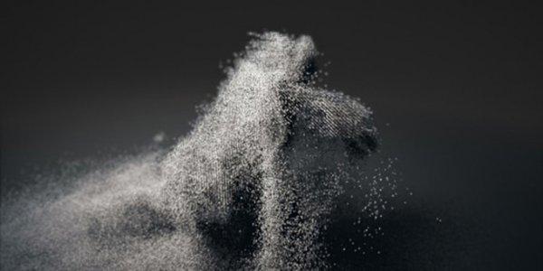 Безымянная скульптура из звука