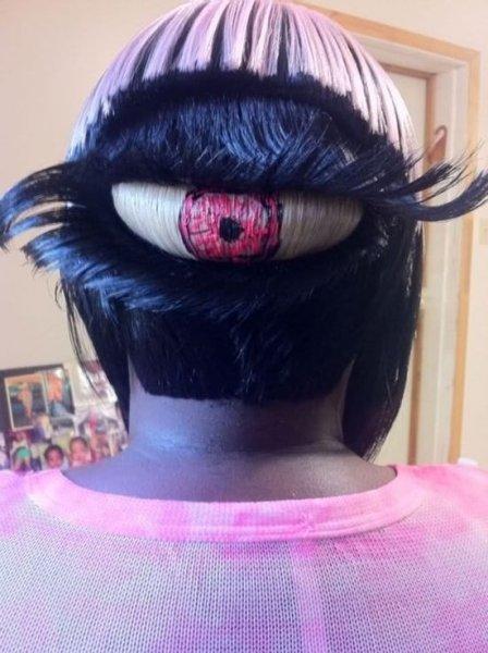 """Причёска """"Третий глаз"""""""
