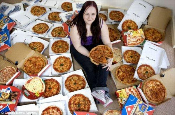Девушка, которая питается пиццой на протяжении 8 лет