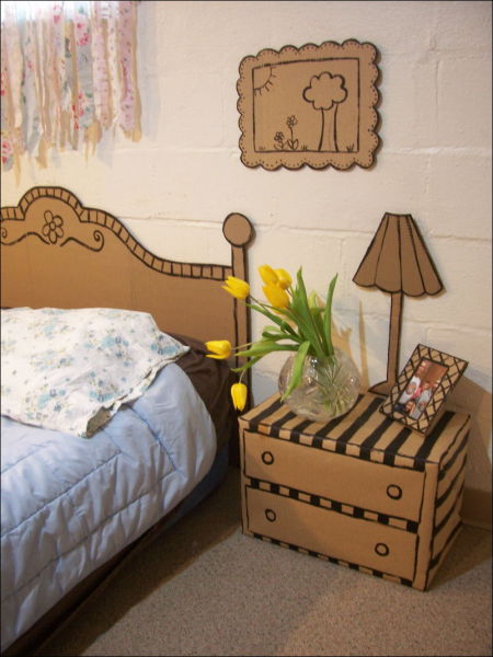 Cardboard Furniture - самодельная картонная мебель