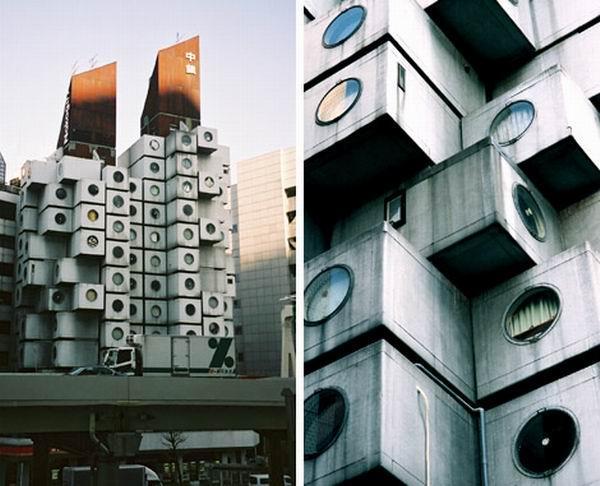 Капсульный дом в Японии