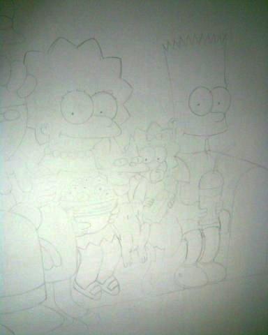 Симпсоны на стене
