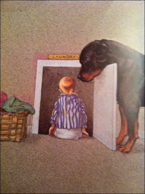 Собака-за-ребенком-смотряка