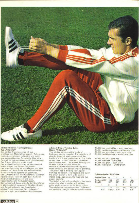 Немецкий каталог Adidas (1968 год)