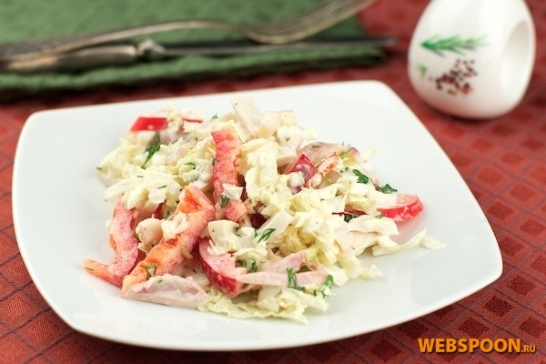 Интересный салат из кальмаров
